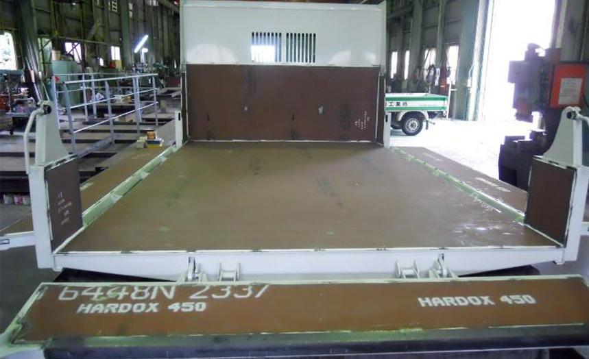 HARDOX450 ダンプカー床板補強