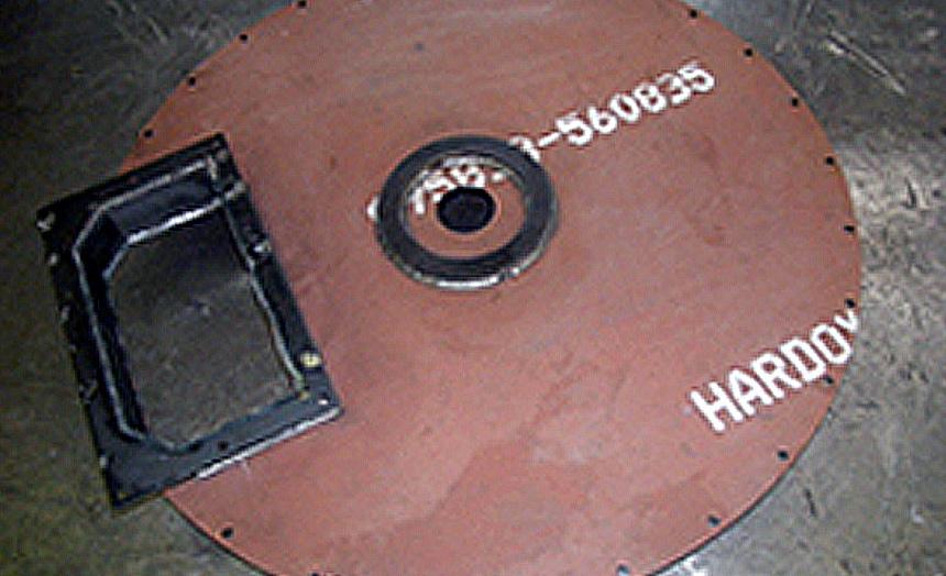 HARDOX500 フィーダーベースプレート