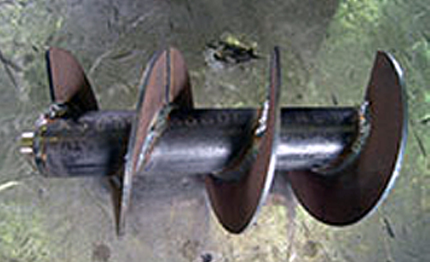 HARDOX400スクリュウー加工例